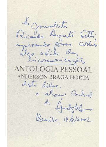 Antologia Pessoal - Volume 1 - com dedicatória do autor