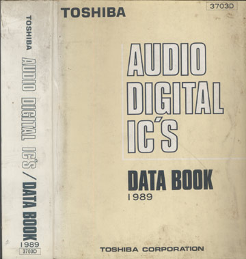 Toshiba - Audio Digital IC'S / Data Book 1989