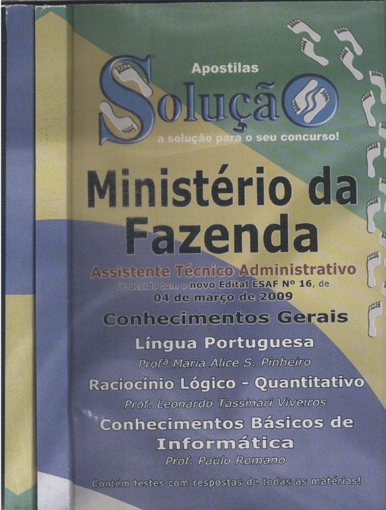 Ministério da Fazenda -2 Volumes - Assistente Técnico Administrativo