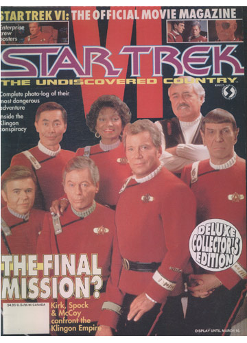 The Official Star Trek VI - The Undiscovered Country Movie Magazine (em inglês)
