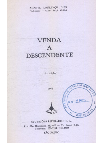 Venda a Descendente