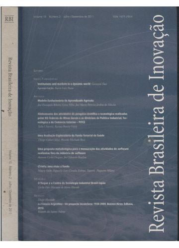 Revista Brasileira de Inovação - Volume 10 - Número 2- Julho / Dezembro de 2011