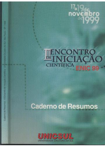 Caderno de Resumos - III Encontro de Iniciação Científica - Universidade Cruzeiro do Sul - SP 1991