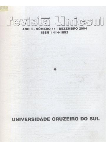 Revista Unicsul - Ano 9 - Número 11 - Dezembro - 2004