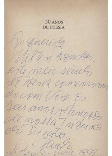 50 Anos de Poesia - Com Dedicatória do Autor