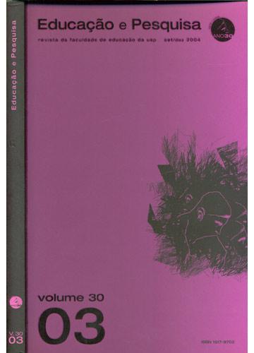 Educação e Pesquisa - Education And Research - Volume 30 - Número 3