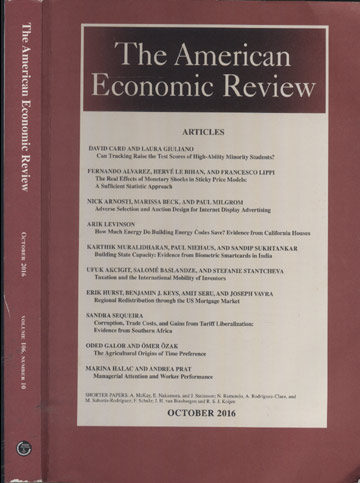 The American Economic Review - October 2016 - Volume 106 - Number 10
