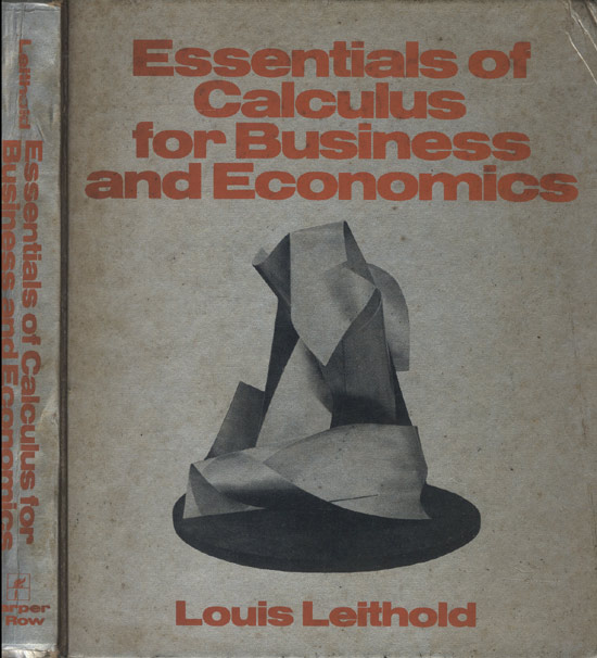 Essentials of Calculus for Business and Economics