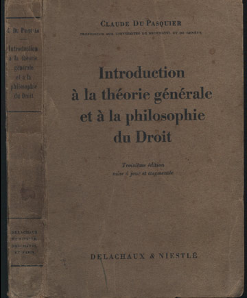Introduction à la Théorie Générale et à la Philisophie du Droit