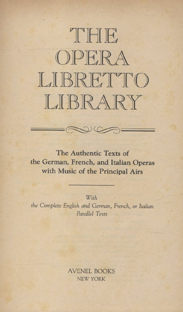 The Opera Libretto Library
