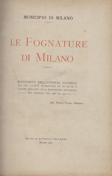 Le Fognature di Milano - Municipio di Milano