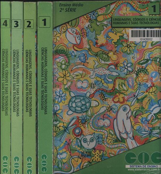 Linguagens Códigos e Ciências Humanas e Suas Técnologias - 4 Volumes - COC - Ensino Médio - 2ª Serie