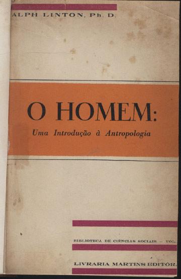 O Homem Uma Introdução à Antropologia