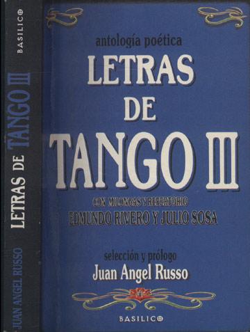 Letras de Tango III