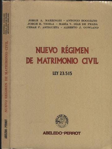 Nuevo Régimen de Matrimonio Civil