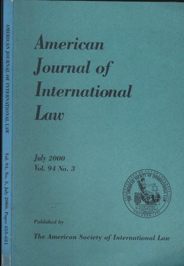 American Journal of International Law - Vol.94 - Nº.3 - July 2000