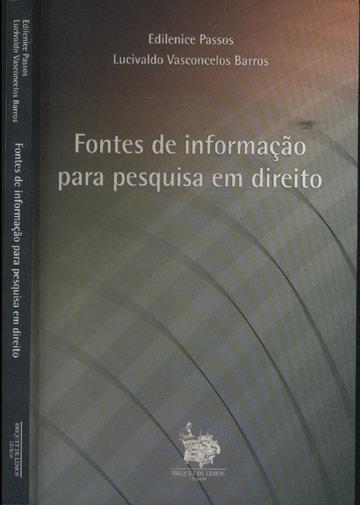 Fontes de Informação Para Pesquisa em Direito