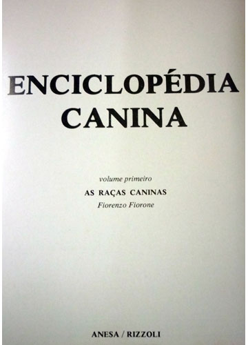Enciclopédia Canina - 2 Volumes