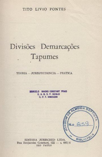 Divisões - Demarcações - Tapume