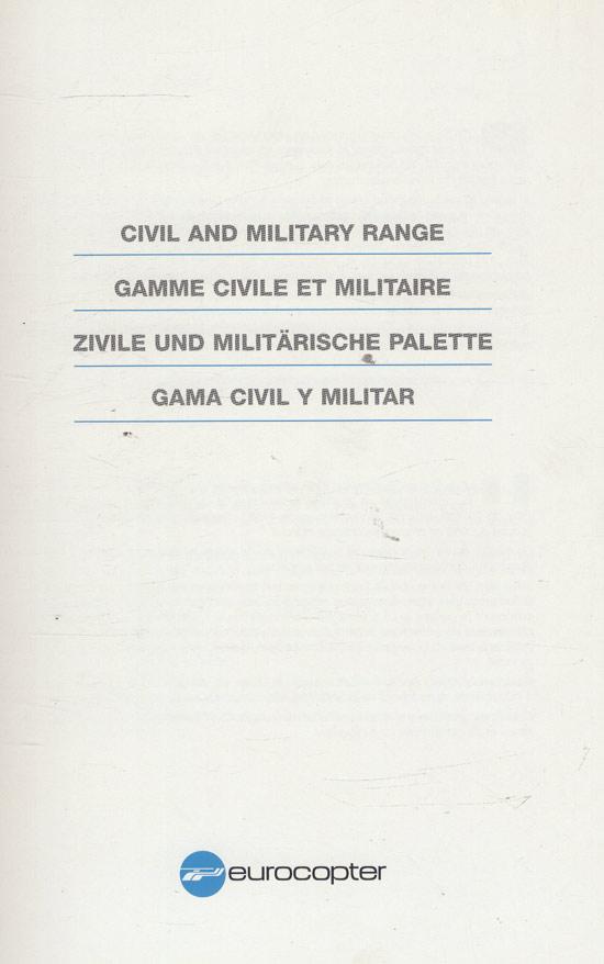 Civil and Military Range / Gamme Civile et Militaire / Zivile und Militärische Palette / Gama Civil y Militar