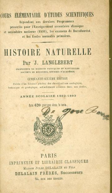 Historie Naturelle