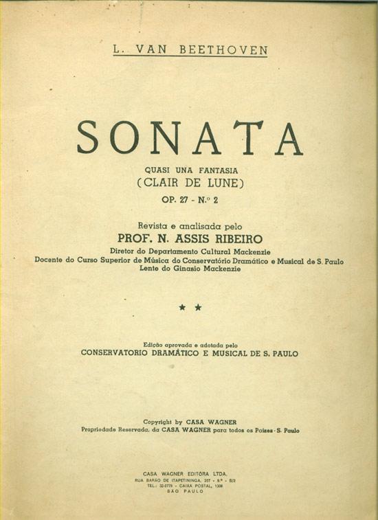 Sonata - Op 27 - Nº2  - (Partituras)
