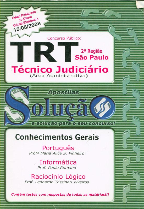 Concurso Público - TRT - Técnico Judiciário - São Paulo