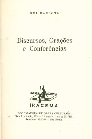 Discursos Orações e Conferências - Tomo II