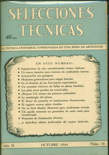 Selecciones Tecnicas - Año II - Octubre 1944 - Nº.15
