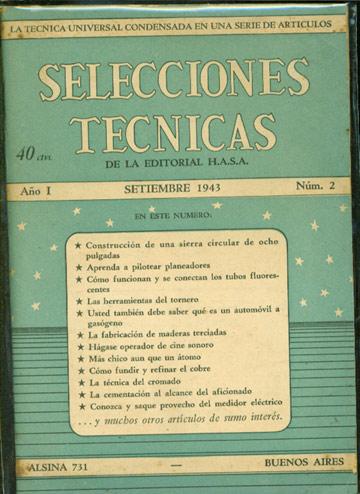 Selecciones Tecnicas - Año I - Setiembre 1943 - Nº.02
