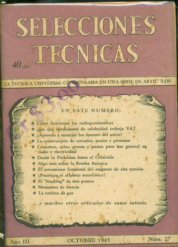 Selecciones Tecnicas - Año III - Octubre 1945 - Nº.27