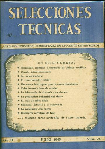 Selecciones Tecnicas - Año II - Julio 1945 - Nº.24
