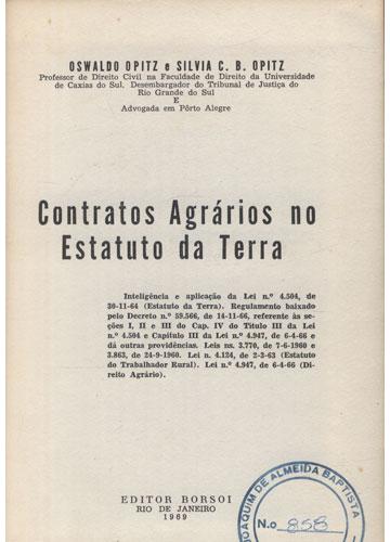 Contratos Agrários no Estatuto da Terra