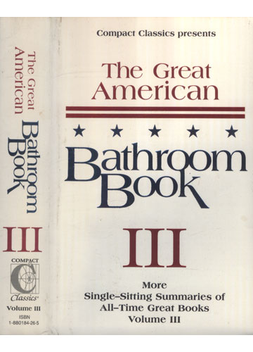 The Great American Bathtoom Book - Volume III