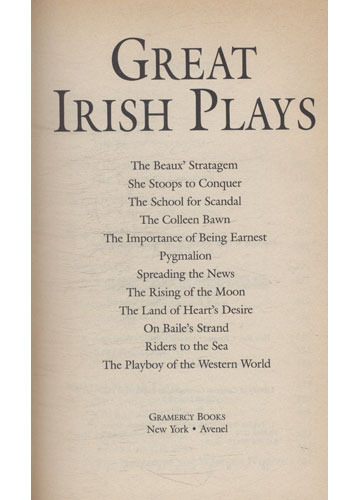 Great Irish Plays