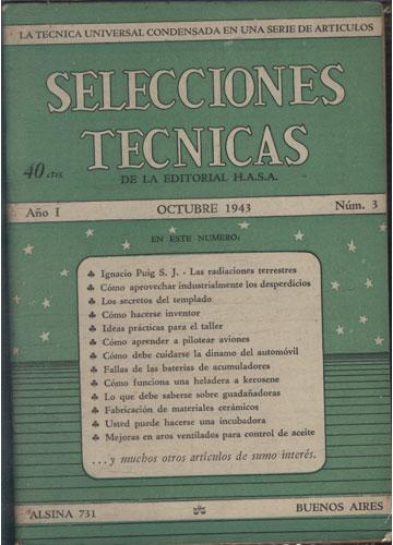 Selecciones Tecnicas - Año I - Octubre 1943 - Nº.03