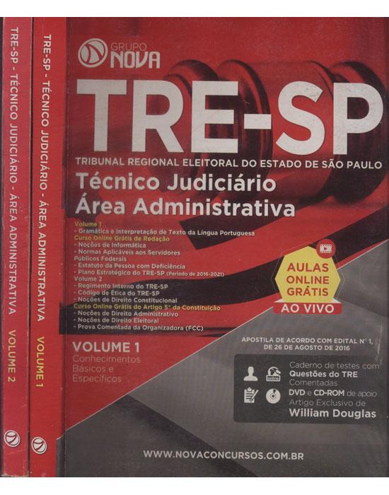 TRE-SP - Técnico Judiciário - Área Administrativa  - 2 Volumes - Sem CD