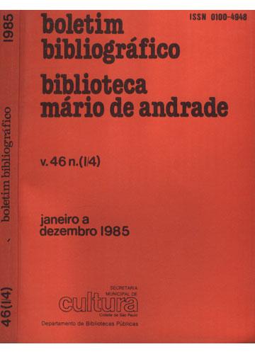 Boletim Bibliográfico - Biblioteca Mário de Andrade