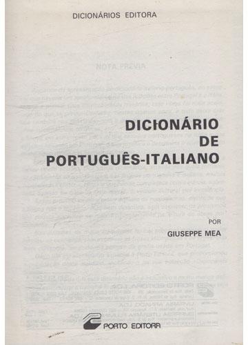 Dicionário de Português Italiano