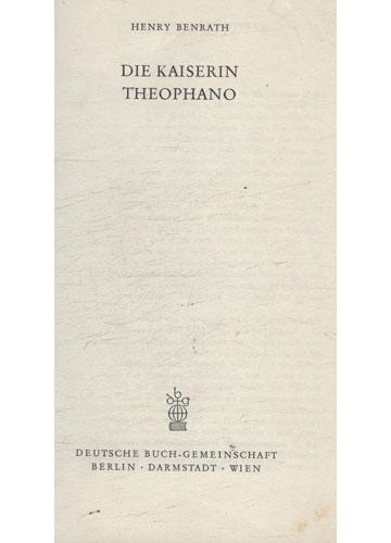 Die Kaiserin Theophano