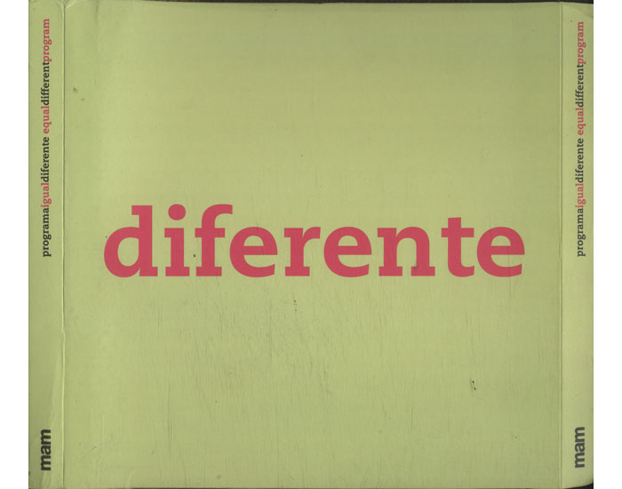Programa Igual Diferente - Equal Different Program - 2 Volumes