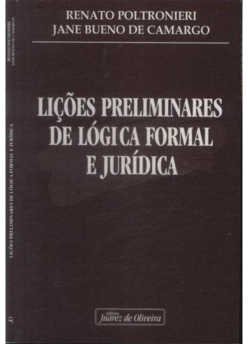 Lições Preliminares de Lógica Formal e Jurídica