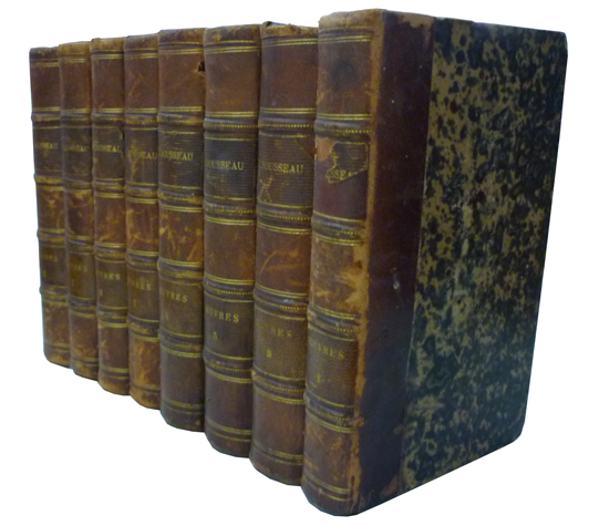 J. J. Rousseau - Ouvres Complètes de J. J. Rousseau - 8 Volumes