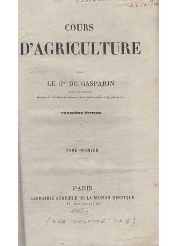 Cours D'Agriculture - 3 Volumes