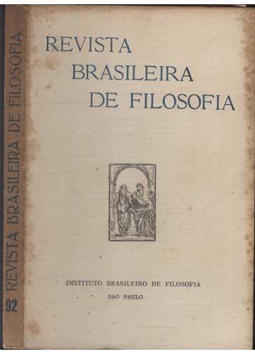 Revista Brasileira de Filosofia - Fasc 92  - Volume 23