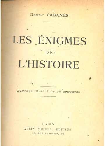 Les Enigmes de l'Histoire