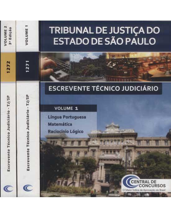 Escrevente Técnico Judiciário - Tribunal de Justiça do Estado de São Paulo - 2 Volumes