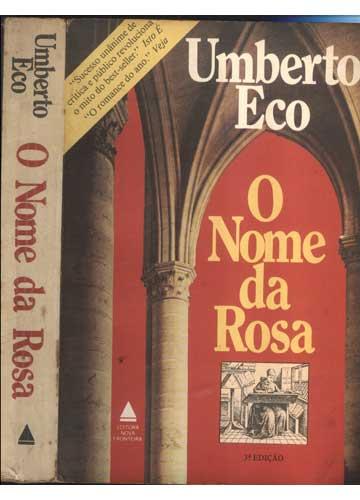 Livro - O Nome da Rosa - Sebo do Messias