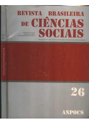 Revista Brasileira de Ciências Sociais - Número 26 - Ano 9 - Outubro de 1994