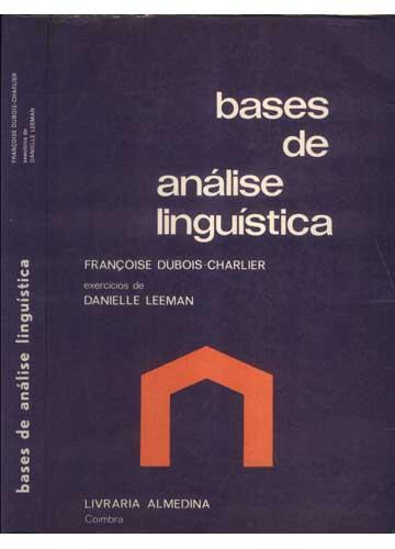 Bases de Análise Linguística